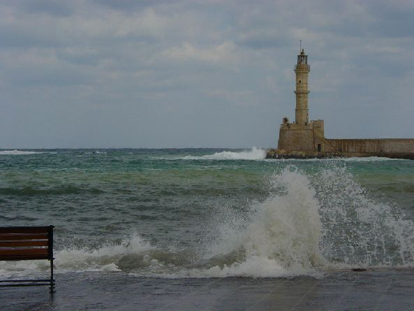Chania with winds